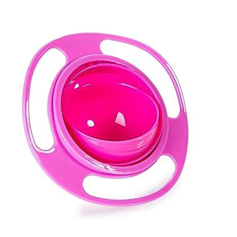 permet d/éviter de renverser les aliments Masterein Bol rotatif 360/° non renversable pour enfant