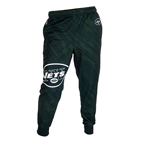 Klew New York Jets NFL Football Mens Cuffed Jogger Pants