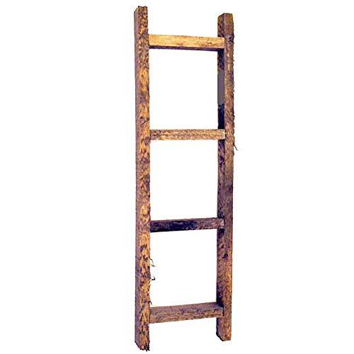 OBI Small Wooden Decorative Ladder - Farmhouse Country Primitive Rustic Craft Decor