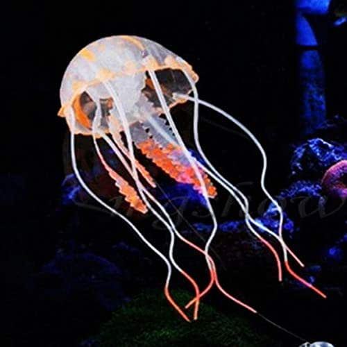 Nesee Mini Glowing Effect Artificial Jellyfish for Fish Tank Decorative Aquarium Ornament