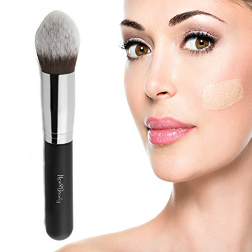 Best Concealer and Corrector Makeup Brush - Contouring Stippling Kabuki Tapered Brush - Great Stocking stuffers for Women Wife Girlfriend