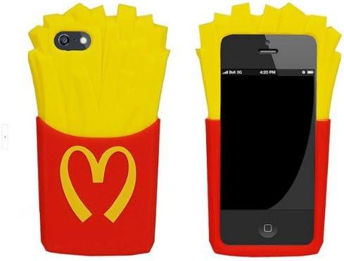 WowEpart Coque en Silicone pour Iphone 5 et 5S Motif Cornet de Frites McDonald 3D Rouge/Jaune