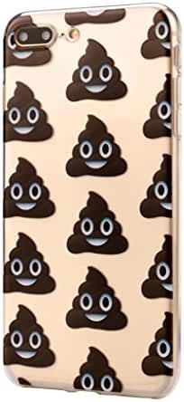 For IPhone 8 Plus 5.5Inch, Mchoice Funny Emoji Poo Design Soft TPU Phone Back Case Cover for IPhone 8 Plus 5.5Inch