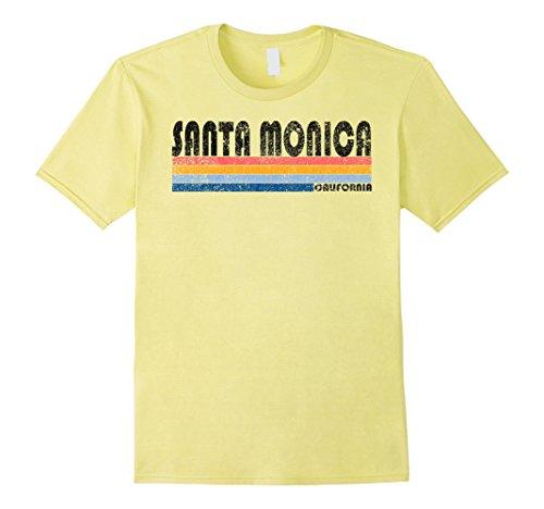 Mens Vintage 1980s Style Santa Monica California T Shirt Small - Style Mens California