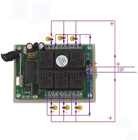 BWSS DC 12 V 2 CH RF interruptor de rel/é remoto DC 4V a 24V 433 Mhz inal/ámbrico RF mando a distancia interruptor de aprendizaje receptor transmisor modo de perro