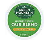 Green Mountain Coffee Roasters Our Blend Keurig Single-Serve K-Cup Pods, Light Roast Coffee, 72 Count (6 Boxes of 12 Pods)