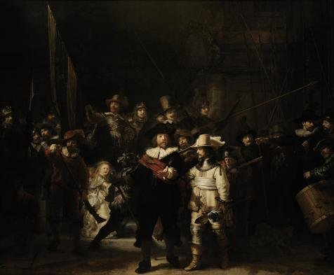 Oil Painting 'Rembrandt Harmenszoon Van Rijn-The Night Watch,17th Century' 12 x 15 inch / 30 x 37 cm , on High Definition HD canvas prints is for Gifts And Hallway, Laundry Room And Study Room decor