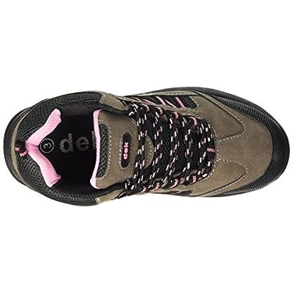 Dek Womens Hiking/Walking/Trekking Ankle Boots Grey/Pink 5