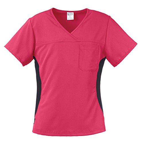 Medline Healthcare 5564PNKXL Michigan AVE. Women's Yoga Stretch Scrub Top, X-Large, (Michigan Scrub)