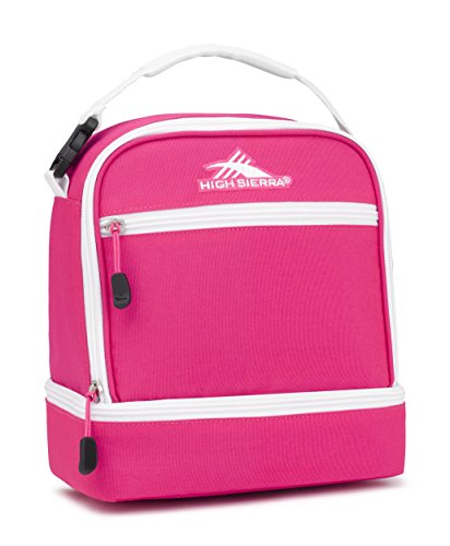 (High Sierra Stacked Compartment Lunch Bag, Flamingo/White)