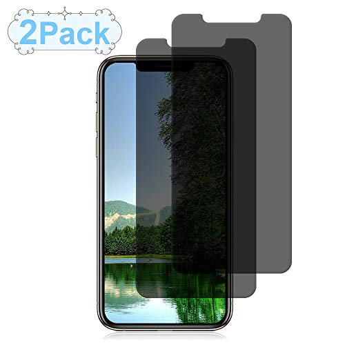 Price comparison product image [2 Packs] Loopilops iPhone XS / X Privacy Screen Protector iPhone XS / X Screen Protectors Anti Spy Tempered Glass Screen Protector [3D Touch] [9H Hardness] Compatible with iPhone XS / X [5.8 Inch]