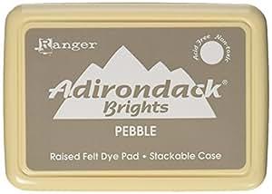 Ranger Adirondack Brights Pebble - Almohadilla de tinta, color marrón claro