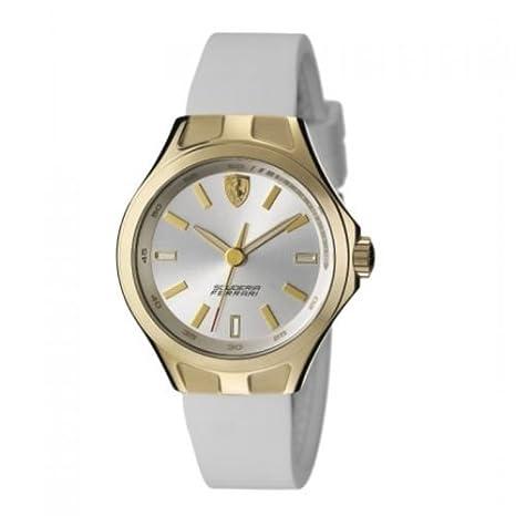71ed49063203 Ferrari reloj mujer Donna Race Day Scuderia Ferrari Oro Blanco  Amazon.es   Coche y moto