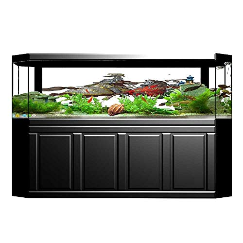 UHOO2018 Background Fish Tank Decorations Middle Age Fighters Knights with Ancient Costume Renaissance Period Illustration Fish Tank Wallpaper Sticker 29.5