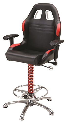 - Pitstop Furniture BC6000R Red Crew Chief Bar Chair