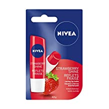 NIVEA Strawberry Shine Tinted Caring Lip Balm Stick, 4.8g