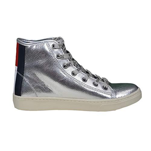 Tommy Sneaker grigio Donna Jeans Grigio Eu 40 rAq0r6w