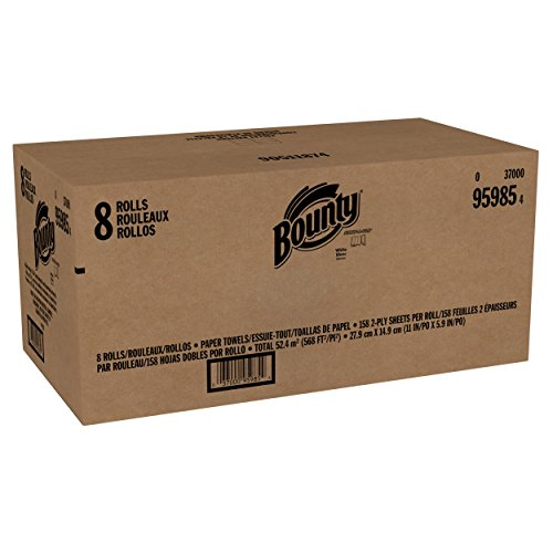 Bounty Full Sheet Paper Towels Giant Rolls: Bounty Select-a-Size Paper Towels, White, Huge Roll, 8
