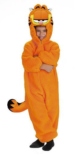 Toddler Garfield Costumes (Kids Plush Garfield Costume - Small Toddler by Disguise)