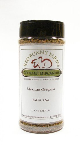 Mexican Oregano-Large 16 FL Oz Spice Jar with Dual Access Easy Flip Shaker Lid by Red Bunny Farms