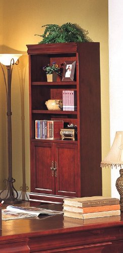 Louis Phillipe Style Cherry - Louis Philippe Style Home Office Storage Shelves Bookcase