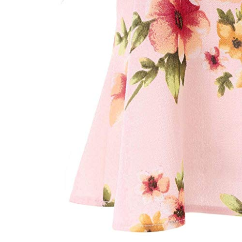 Mode Camisoles paules Volants Femme Courtes Impression Nues Et Nu Branch Tee Shirt Tops Rose Elgante Casual Fleurs Manches Sling Style Tshirts Dos Spcial pCtqCwxr