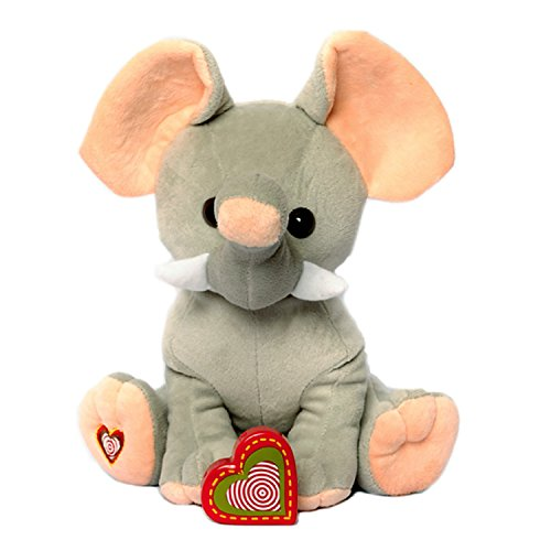 My Baby's Heartbeat Bear - Giant Elephant Stuffed Animal w/ 20 sec Voice Recorder - Lil 8
