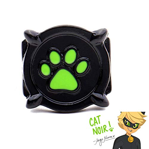 Cat Noir Ring for Kids - Ladybug Jewelry Costume Cosplay Accessories Gifts (US ()