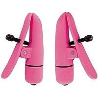 California Exotics Nipplettes Vibrating Nipple Clamps, Pink