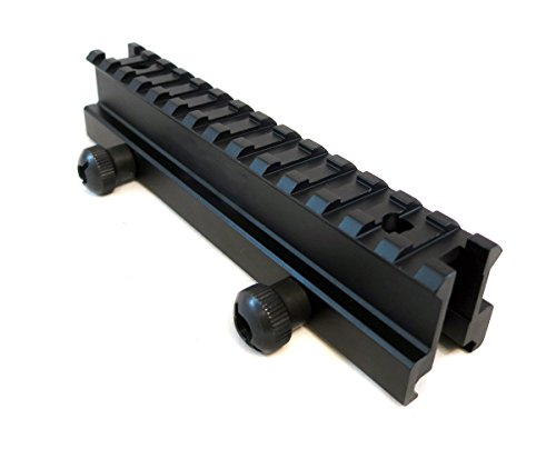 """Monstrum Tactical High Profile Picatinny Riser Mount (1"""" H x 5.7"""" L), for Scopes and Optics"""