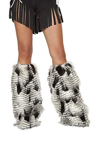 Roma Costume Women's Native American Leg Warmer, White/Black,
