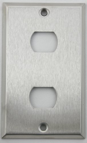 Satin Stainless Steel One Gang Wall Plate for Two Despard (Steel Despard Wall Plate)