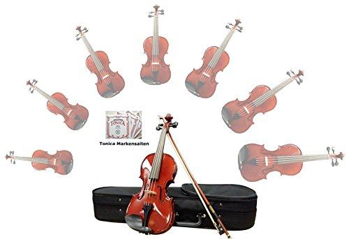Sinfonie24 Geige/ Violine aus Hamburger Geigenbau Manufaktur (Basic II) - inkl. Markensaiten (4/4)