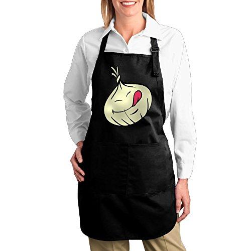 Dogquxio Cute Onions Kitchen Helper Professional Bib Apron With 2 Pockets For Women Men Adults (Celery Man Costume)
