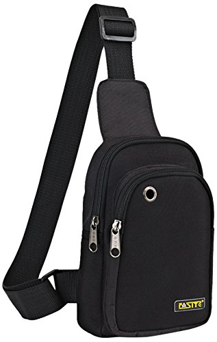 FASITE PTN090 Sling Chest Shoulder Tool Bag Pouch, Black