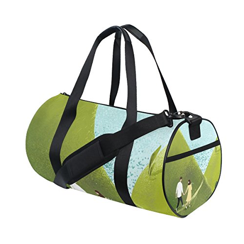 Unisex Spring Couple Gym Sport Team Issue Duffel Bag by Top Carpenter by Top Carpenter