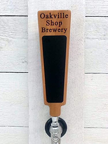 Custom Personalized Beer Tap Handle Cherry wood with Chalboardboard Engraved with your Personalized text. Great for Tap room, Brewerie Gift Home Kegerator