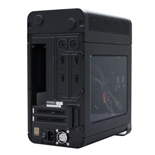 EVGA Hadron Hydro Mini-ITX Steel Black Chassis with 500W 80Plus Gold Power Supply 110-MW-1002-K1 by EVGA (Image #2)