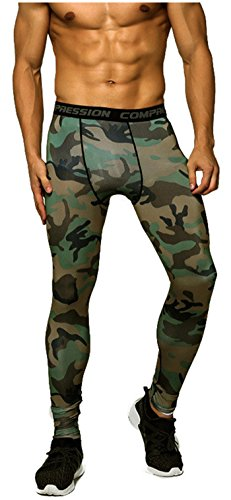 Findci Men 's Sports Compression Baselayer Set Leisure Camouflage Long sleeved T Shirt + Pants Training Tracksuits