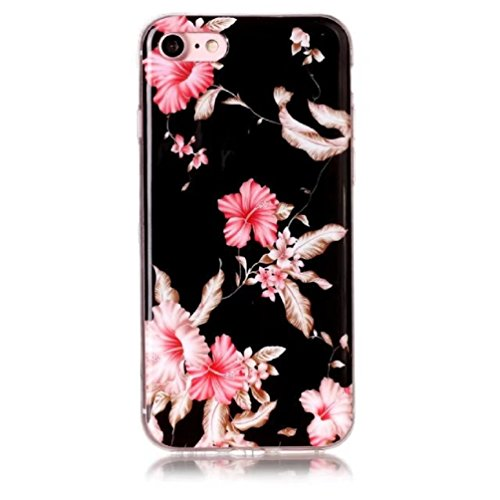 Jewby iPhone 7/8 Case, Beautiful Glitter Floral Design Case for iphone 7/8 with a Free Screen Protector ()