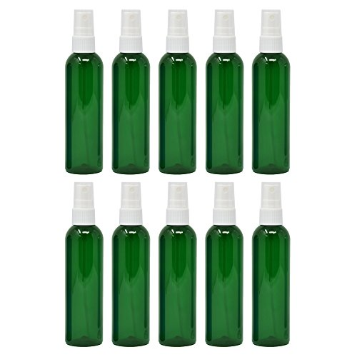 Plastic Spray Bottles Empty 4 oz 10 Pack with Fine Mist Sprayers PET BPA Free Materials Great for Essential Oil Sprays]()