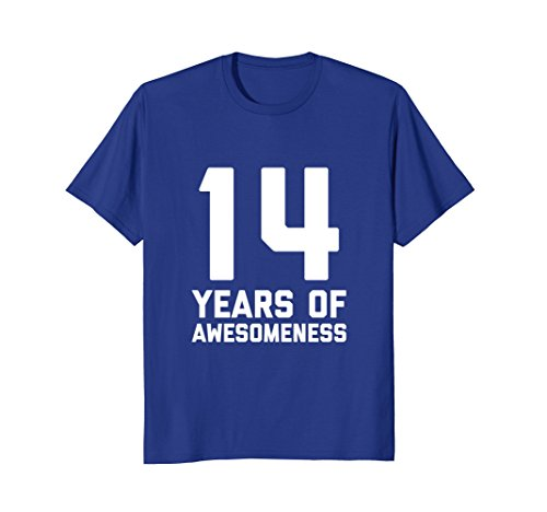 Mens 14th Birthday Shirt Gift Age 14 Year Old Boy Girl Tshirt Tee Small Royal Blue