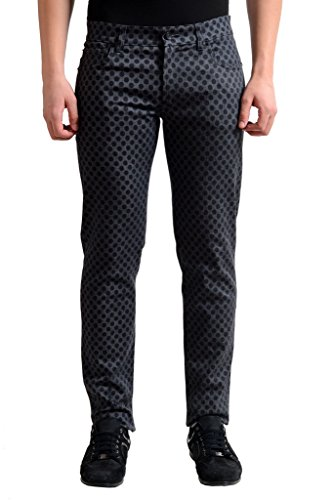 Dolce Gabbana Black Jeans (Dolce & Gabbana Black & Gray Wash Polka Dot Slim Fit Stretch Jeans US 28 IT 44;)
