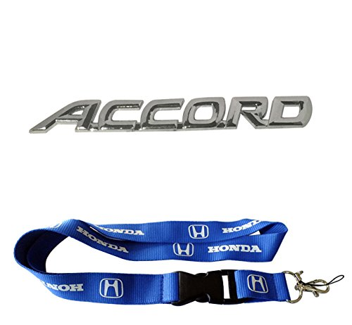 New 1pcs Honda Keychain Lanyard Badge Holder + New Honda Accord Emblem