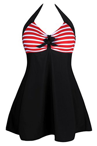 Aleumdr Womens Vintage Skirtini Swimdress