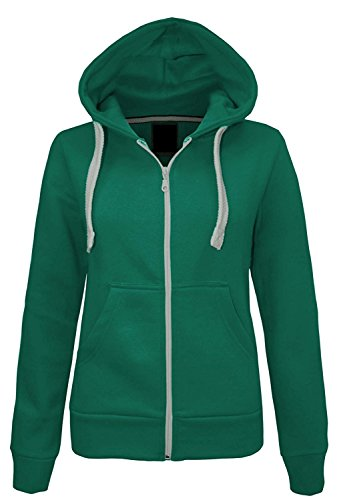 Ladies Girls Plain Hoodie Sweatshirt Fleece Lined Jacket US Size 6-20 (US 8 (UK 10), - Topman Shades