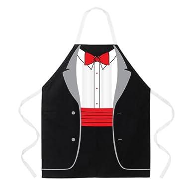 Attitude Apron Tuxedo Apron, Black, One Size Fits Most