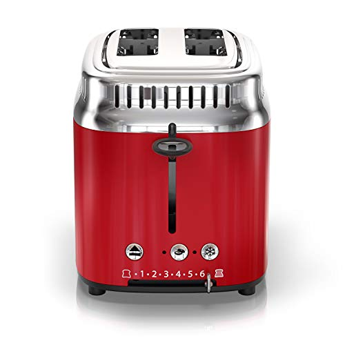 the latest 2e6bc c9886 Russell Hobbs 2-Slice Retro Style Toaster, Red   Stainless - Import It All