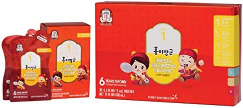 KGC Cheong Kwan Jang Kids Tonic Organic Korean Red Ginseng Tonic for Age 3 To 4 Toddlers Health and Immune System Enhancement 30 Count – Step 1