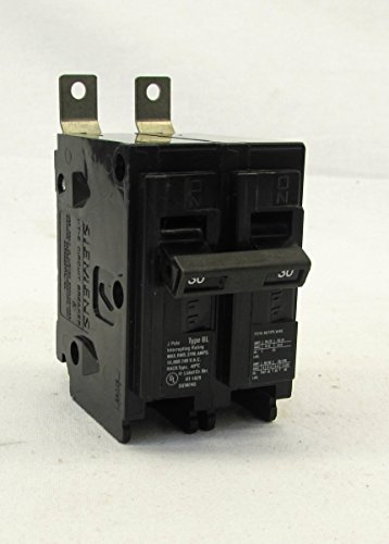 Molded Siemens Breakers Circuit Case - Siemens B230 Panelboard/Bolt-On Mount Type BL Low Tab Molded Case Circuit Breaker 2-Pole 30 Amp 120/240 Volt AC